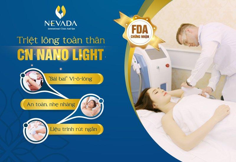 Triệt lông toàn thân CN Nano Light: Không còn Vi-ô-lông, không đau rát
