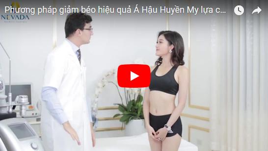 Á hậu Huyền My đang trải nghiệm dịch vụ giảm béo