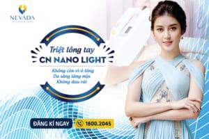 Triệt lông tay CN Nano Light: Da Láng – Sáng – Mịn