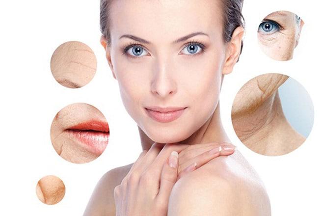 Vết nhăn xuất hiện ở hầu khắp các bộ phận trên cơ thể đặc biệt là ở trên khuân mặt