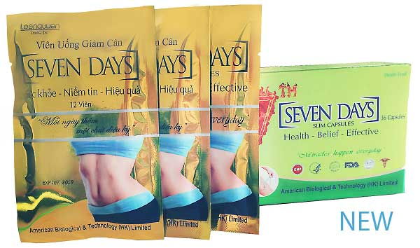 review cách sử dụng, tác dụng phụ của viên thuốc giảm cân max seven days(7 days slim, 7-day slim, 7dayslim) thái lan giảm cân có tốt không, giá bao nhiêu tiền, mua ở đâu review