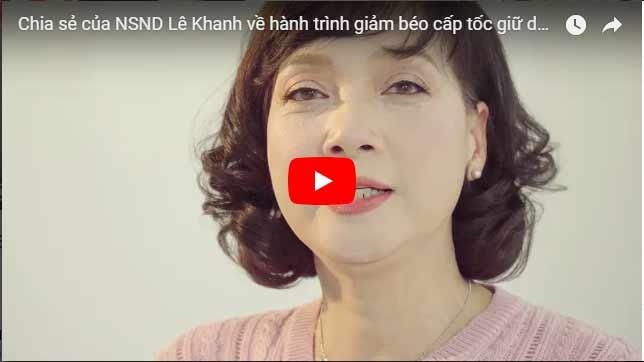 Video NSND Lê Khanh chi sẻ về bí quyết giảm cân giữ dáng eo thon