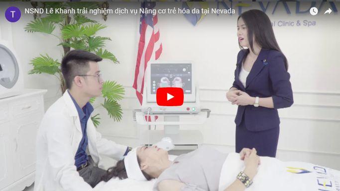 NSND Lê Khanh đang thực hiện nâng cơ trẻ hóa da tại TMV Nevada
