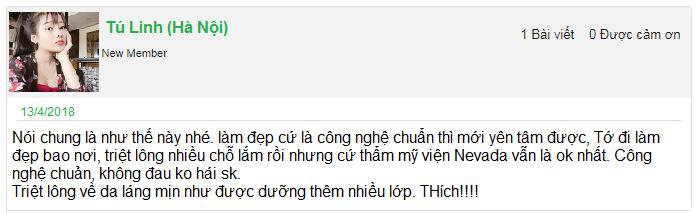 Review của khách hàng về địa chỉ triệt lông vĩnh viễn uy tín tại Hà Nội và TPHCM