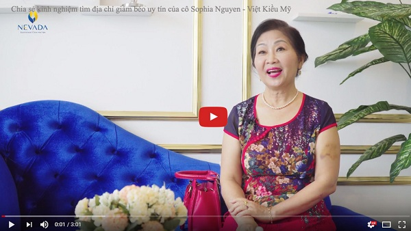 Cô Sophia Việt Kiều Mỹ tự tin trải nghiệm dịch vụ giảm béo tại Nevada