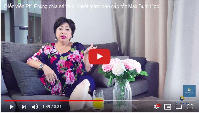 Diễn viên Phi Phụng chia sẻ về công nghệ giảm béo Max Burn Lipo
