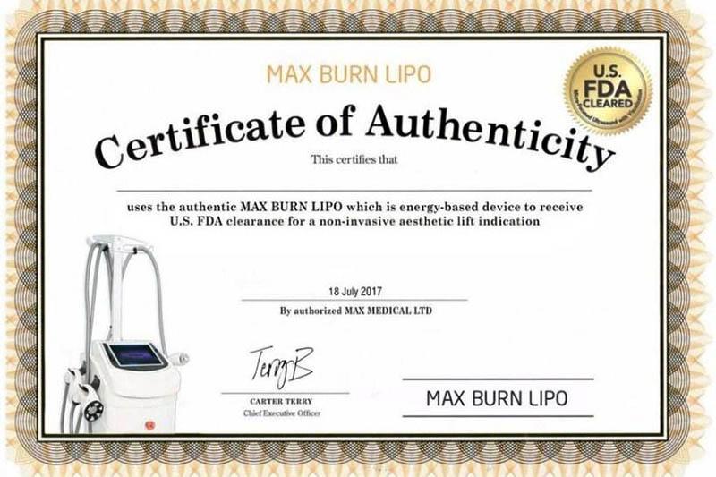 Max Burn Lipo được FDA chứng nhận về độ an toàn