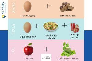 Thực đơn giảm cân khoa học trong 1 tuần 2 kg chuẩn nhất từ viện dinh dưỡng