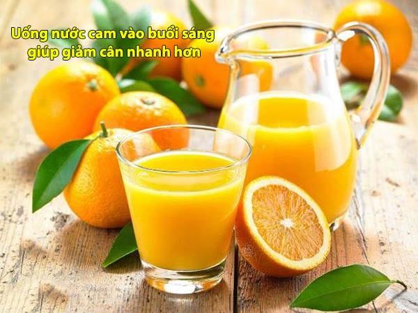 Uống nước cam vào buổi sáng giảm cân nhanh hơn