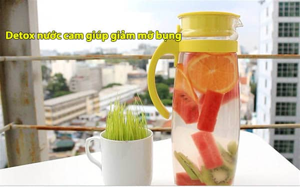 Detox nước cam giúp giảm mỡ bụng