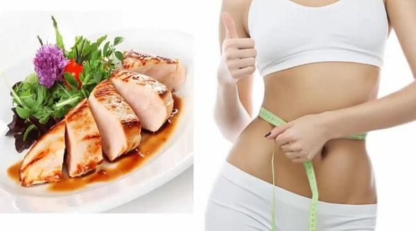 Ăn ức gà giảm cân