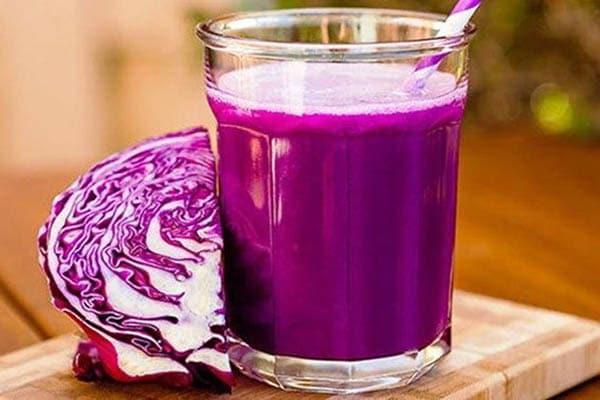 Cách làm nước ép bắp cải tím giảm mỡ bụng