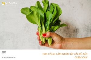 1001 cách làm nước ép cải bó xôi giảm cân siêu hiệu quả