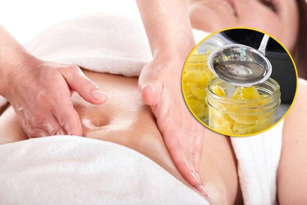 Massage bụng bằng rượu gừng để giảm mỡ bụng nhanh hơn