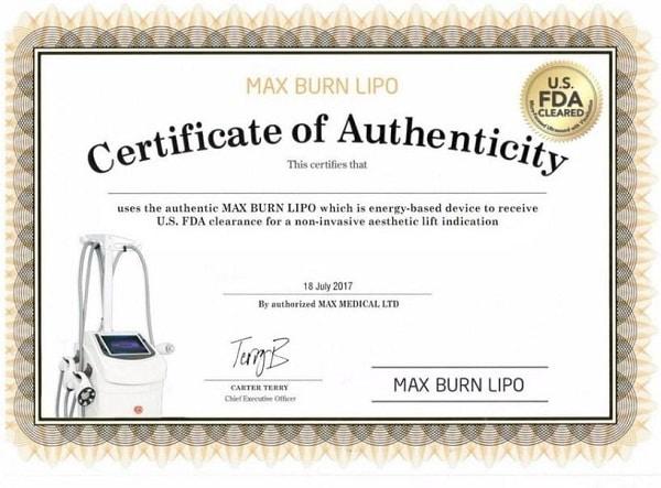 Sở hữu độc quyền công nghệ giảm béo Max Burn Lipo 2020 chuẩn FDA