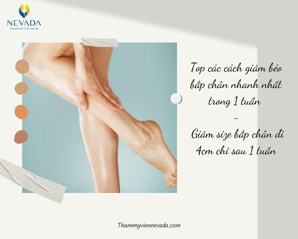 cách giảm béo bắp chân cấp tốc
