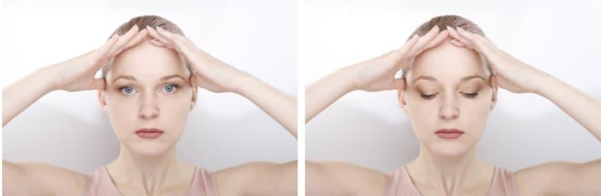 Bài tập giúp tăng cường cơ tròn mắt, làm căng mí trên bị chùng và săn chắc vùng mắt