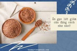 Ăn gạo lứt giảm cân đúng cách như nào? Lời giải đáp đến từ chuyên gia dinh dưỡng