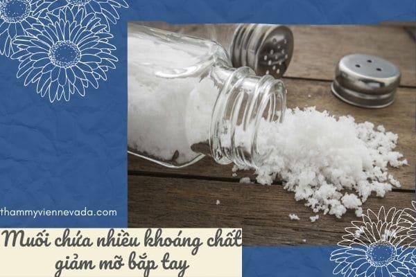 giảm mỡ bắp tay bằng muối, giảm bắp tay bằng muối, cách giảm mỡ bắp tay bằng muối