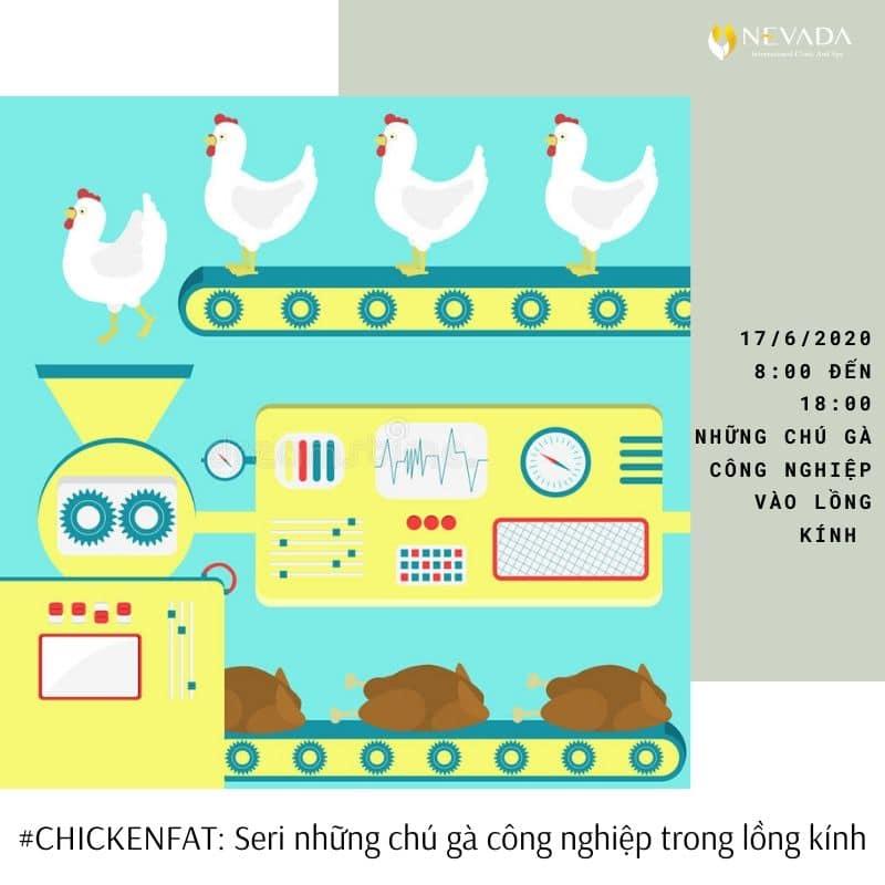 """#CHICKENFAT: Seri những chú gà công nghiệp trong lồng kính thời đại 4.""""L"""""""