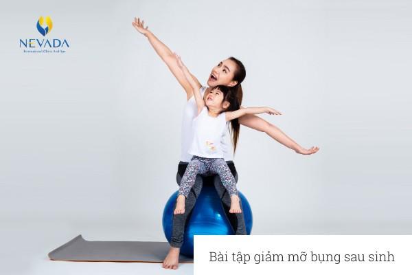 Bài tập giảm mỡ bụng sau sinh cho mẹ bỉm
