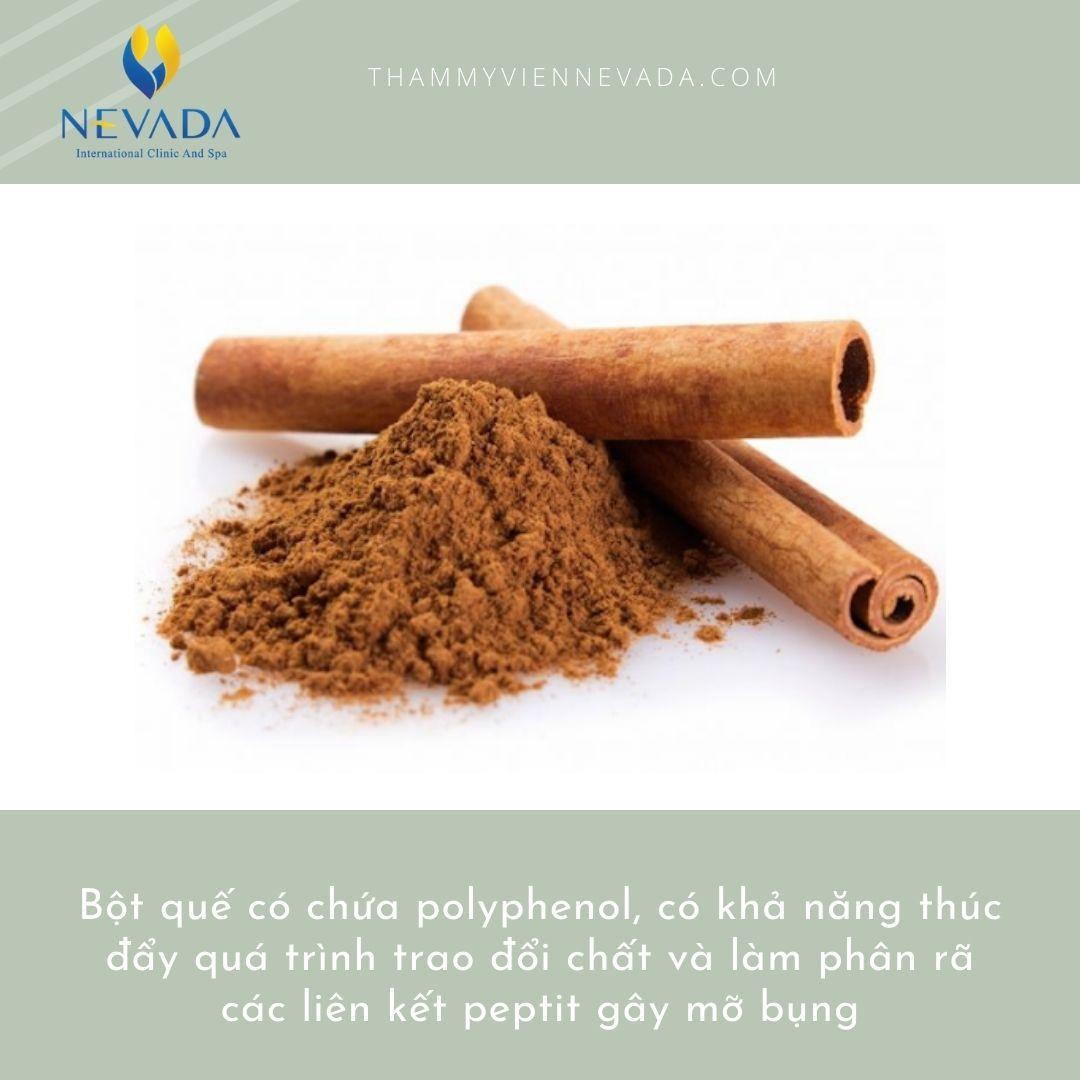 giảm mỡ bụng bằng bột quế, giảm mỡ bụng với bột quế, cách giảm mỡ bụng bằng bột quế
