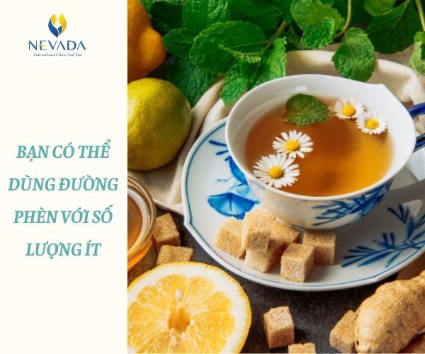 ăn đường phèn có béo không, uống đường phèn có béo không, dùng đường phèn có béo không, trà hoa cúc đường phèn có béo không