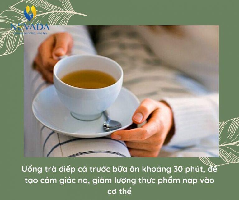 uống diếp cá có giảm cân không, uống trà diếp cá có giảm cân không
