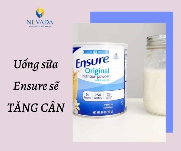 uống sữa ensure giảm cân, sữa ensure giảm cân, uống ensure có mập không, uống sữa ensure có tăng cân không, uống sữa ensure có mập không