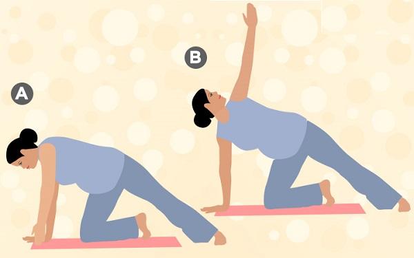 bài tập giảm cân cho bà bầu, các bài tập giảm cân cho bà bầu, bài tập yoga giảm cân cho bà bầu