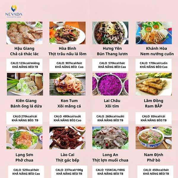 Khám phá khả năng gây béo của các món ăn đặc sản các tỉnh thành