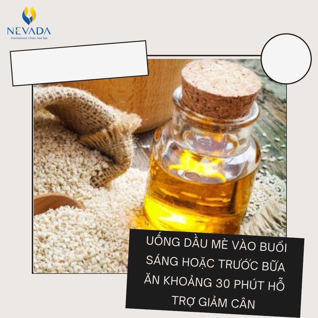 dầu mè có giảm cân không, ăn dầu mè có béo không, ăn dầu mè có tăng cân không, uống dầu mè có giảm cân không, dầu mè bao nhiêu calo, calo trong dầu mè