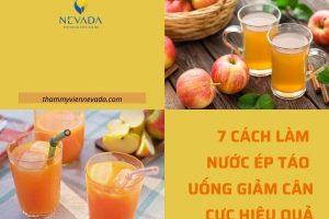TOP 7 cách làm nước ép táo uống giảm cân – Giảm đến 3kg, đánh bay cả rổ mỡ bụng trong thời gian siêu tốc