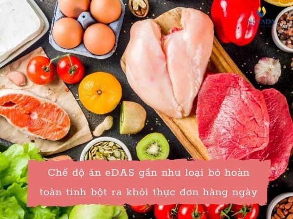 thực đơn giảm cân edas, chế độ ăn kiêng edas, chế độ giảm cân edas, thực đơn edas giảm cân